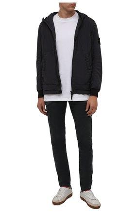 Мужская утепленная куртка STONE ISLAND темно-серого цвета, арт. 751541928 | Фото 2