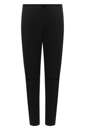Мужские брюки из хлопка и шерсти STONE ISLAND черного цвета, арт. 751530914 | Фото 1
