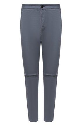 Мужские брюки из хлопка и шерсти STONE ISLAND серого цвета, арт. 751530914 | Фото 1