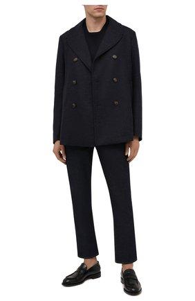 Мужской бушлат из шерсти и кашемира LORO PIANA темно-синего цвета, арт. FAL7010 | Фото 2 (Длина (верхняя одежда): Короткие; Материал внешний: Шерсть; Рукава: Длинные; Мужское Кросс-КТ: пальто-верхняя одежда; Стили: Кэжуэл)