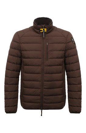 Мужская пуховая куртка ugo PARAJUMPERS коричневого цвета, арт. SL04/UG0 | Фото 1 (Материал утеплителя: Пух и перо; Материал внешний: Синтетический материал; Материал подклада: Синтетический материал; Кросс-КТ: Куртка; Мужское Кросс-КТ: пуховик-короткий; Длина (верхняя одежда): Короткие; Стили: Кэжуэл; Рукава: Длинные)