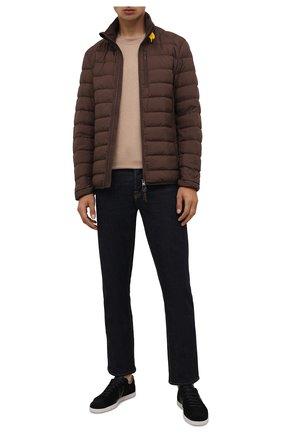 Мужская пуховая куртка ugo PARAJUMPERS коричневого цвета, арт. SL04/UG0 | Фото 2 (Материал утеплителя: Пух и перо; Материал внешний: Синтетический материал; Материал подклада: Синтетический материал; Кросс-КТ: Куртка; Мужское Кросс-КТ: пуховик-короткий; Длина (верхняя одежда): Короткие; Стили: Кэжуэл; Рукава: Длинные)