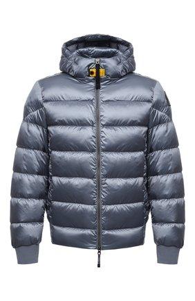 Мужская пуховая куртка PARAJUMPERS голубого цвета, арт. SX13/PHARRELL   Фото 1 (Материал подклада: Синтетический материал; Материал внешний: Синтетический материал; Материал утеплителя: Пух и перо; Кросс-КТ: Куртка; Принт: Без принта; Мужское Кросс-КТ: пуховик-короткий; Длина (верхняя одежда): Короткие; Рукава: Длинные; Стили: Спорт-шик)