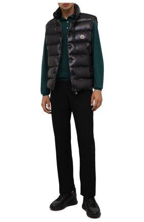 Мужские комбинированные кроссовки DOUCAL'S черного цвета, арт. DU2625JUSTPM208NN00 | Фото 2 (Материал утеплителя: Натуральный мех; Подошва: Массивная; Материал внешний: Текстиль; Стили: Классический)