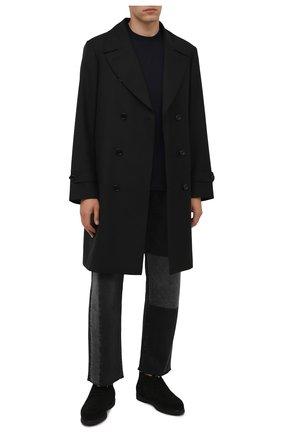 Мужские замшевые ботинки DOUCAL'S черного цвета, арт. DU2713ED0-UM024NN00 | Фото 2 (Подошва: Плоская; Материал утеплителя: Натуральный мех; Мужское Кросс-КТ: Ботинки-обувь, Дезерты-обувь, зимние ботинки; Материал внешний: Замша)