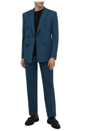Мужские кожаные монки DOUCAL'S черного цвета, арт. DU2738PHILUF188NN00 | Фото 2 (Материал внутренний: Натуральная кожа; Стили: Классический)