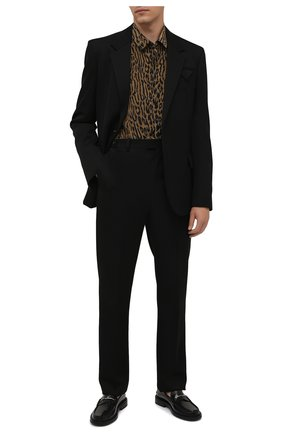 Мужская шелковая рубашка SAINT LAURENT леопардового цвета, арт. 653860/Y1D94 | Фото 2