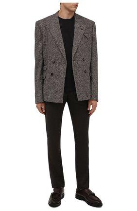 Мужские кожаные монки W.GIBBS темно-коричневого цвета, арт. 0128010/2303 | Фото 2 (Материал внутренний: Текстиль; Стили: Классический)