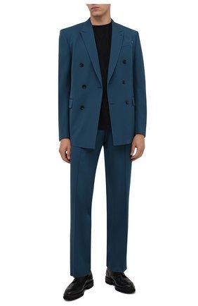 Мужские кожаные дерби W.GIBBS черного цвета, арт. 7260001/2197 | Фото 2 (Материал внутренний: Натуральная кожа; Стили: Классический; Мужское Кросс-КТ: Броги-обувь)