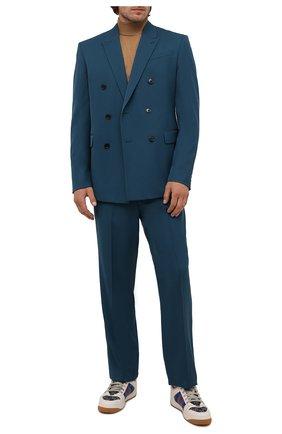 Мужские комбинированные кеды screener GUCCI синего цвета, арт. 576223/2KQ40 | Фото 2