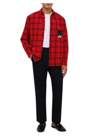 Мужские кожаные сабо paride GUCCI черного цвета, арт. 655580/1W610 | Фото 2