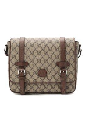 Мужская сумка gg GUCCI бежевого цвета, арт. 658542/K9GSN | Фото 1