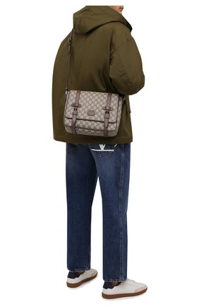 Мужская сумка gg GUCCI бежевого цвета, арт. 658542/K9GSN | Фото 2