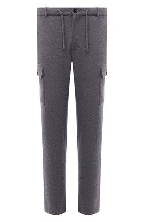 Мужские шерстяные брюки-карго FIORONI серого цвета, арт. MKF23423F1 | Фото 1 (Длина (брюки, джинсы): Стандартные; Материал внешний: Шерсть; Случай: Повседневный; Силуэт М (брюки): Карго; Мужское Кросс-КТ: Брюки-трикотаж; Стили: Кэжуэл)