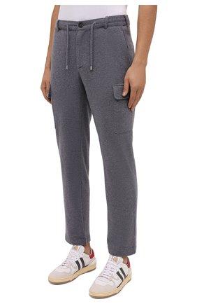 Мужские шерстяные брюки-карго FIORONI серого цвета, арт. MKF23423F1   Фото 3 (Силуэт М (брюки): Карго; Мужское Кросс-КТ: Брюки-трикотаж; Материал внешний: Шерсть; Длина (брюки, джинсы): Стандартные; Случай: Повседневный; Стили: Кэжуэл)