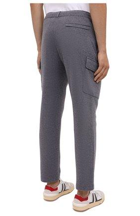 Мужские шерстяные брюки-карго FIORONI серого цвета, арт. MKF23423F1   Фото 4 (Силуэт М (брюки): Карго; Мужское Кросс-КТ: Брюки-трикотаж; Материал внешний: Шерсть; Длина (брюки, джинсы): Стандартные; Случай: Повседневный; Стили: Кэжуэл)