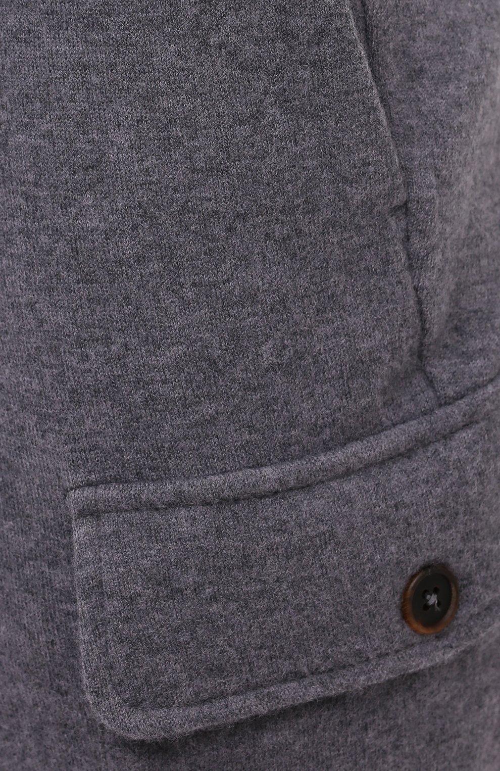 Мужские шерстяные брюки-карго FIORONI серого цвета, арт. MKF23423F1   Фото 5 (Силуэт М (брюки): Карго; Мужское Кросс-КТ: Брюки-трикотаж; Материал внешний: Шерсть; Длина (брюки, джинсы): Стандартные; Случай: Повседневный; Стили: Кэжуэл)