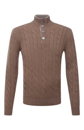 Мужской свитер из шерсти и кашемира GRAN SASSO светло-коричневого цвета, арт. 23151/19672 | Фото 1