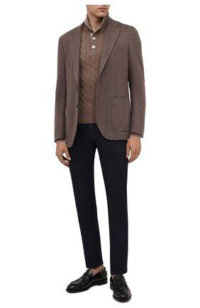 Мужской свитер из шерсти и кашемира GRAN SASSO светло-коричневого цвета, арт. 23151/19672 | Фото 2