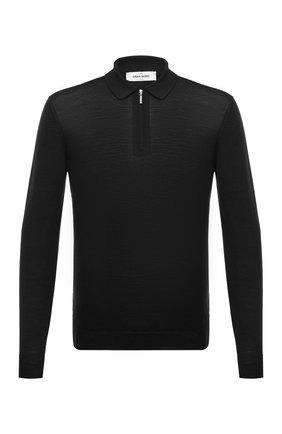 Мужское поло из шерсти и шелка GRAN SASSO черного цвета, арт. 57137/13190 | Фото 1
