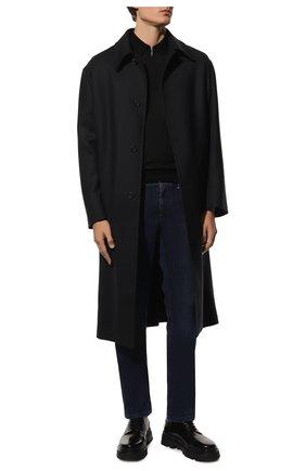 Мужское поло из шерсти и шелка GRAN SASSO черного цвета, арт. 57137/13190 | Фото 2