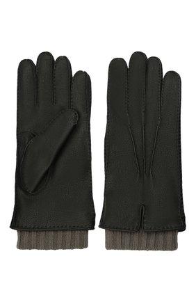 Мужские кожаные перчатки FEDELI черного цвета, арт. 4UI01002 | Фото 2