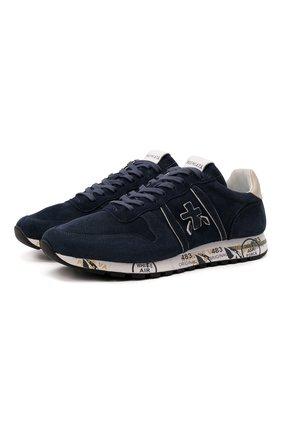 Мужские замшевые кроссовки eric PREMIATA синего цвета, арт. ERIC/VAR5373 | Фото 1 (Подошва: Массивная; Материал внутренний: Натуральная кожа; Материал внешний: Замша; Стили: Гранж)