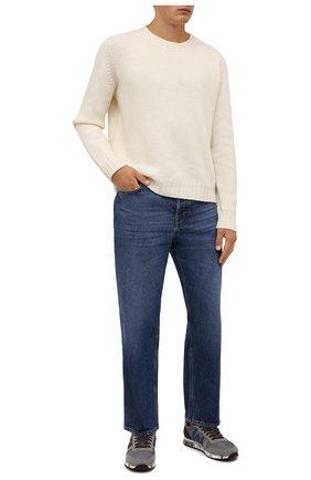 Мужские комбинированные кроссовки eric PREMIATA серого цвета, арт. ERIC/VAR5375 | Фото 2 (Материал внешний: Текстиль; Материал внутренний: Натуральная кожа; Стили: Гранж; Подошва: Массивная)