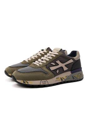 Мужские комбинированные кроссовки mick PREMIATA разноцветного цвета, арт. MICK/VAR5338 | Фото 1 (Материал внутренний: Натуральная кожа; Материал внешний: Текстиль; Стили: Гранж; Подошва: Массивная)