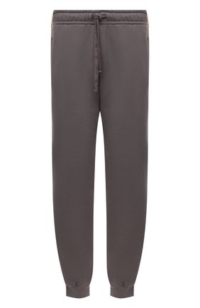 Мужские хлопковые джоггеры GUCCI светло-серого цвета, арт. 630713/XJBUW | Фото 1 (Материал внешний: Хлопок; Силуэт М (брюки): Джоггеры; Мужское Кросс-КТ: Брюки-трикотаж; Стили: Спорт-шик; Длина (брюки, джинсы): Стандартные)