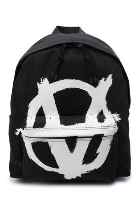 Мужской текстильный рюкзак VETEMENTS черного цвета, арт. UA52BA640W 1302/M   Фото 1 (Ремень/цепочка: На ремешке; Материал: Текстиль)