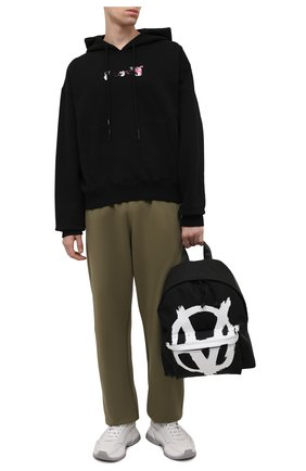 Мужской текстильный рюкзак VETEMENTS черного цвета, арт. UA52BA640W 1302/M   Фото 2 (Ремень/цепочка: На ремешке; Материал: Текстиль)