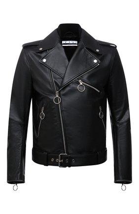 Мужская кожаная куртка OFF-WHITE черного цвета, арт. 0MJG016F21LEA001 | Фото 1