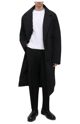 Мужской утепленный тренч OFF-WHITE черного цвета, арт. 0MER044F21FAB001 | Фото 2