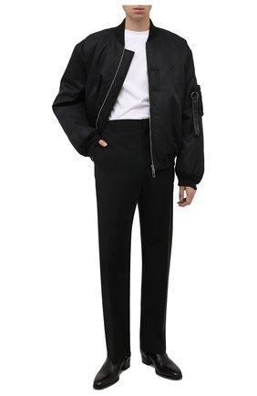 Мужской утепленный бомбер OFF-WHITE черного цвета, арт. 0MEH038F21FAB001 | Фото 2