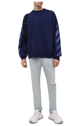 Мужские джинсы OFF-WHITE голубого цвета, арт. 0MYA129F21DEN003 | Фото 2