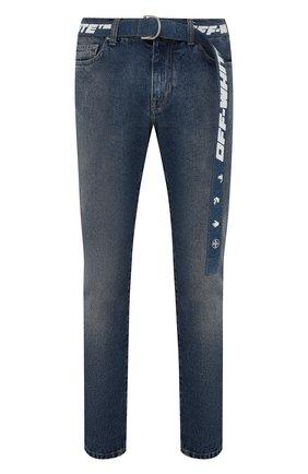 Мужские джинсы OFF-WHITE синего цвета, арт. 0MYA127F21DEN002 | Фото 1
