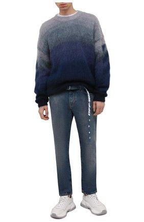 Мужские джинсы OFF-WHITE синего цвета, арт. 0MYA127F21DEN002 | Фото 2