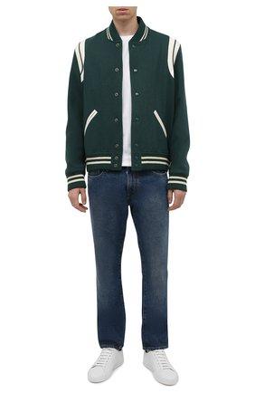 Мужские джинсы OFF-WHITE синего цвета, арт. 0MYA102F21DEN007 | Фото 2