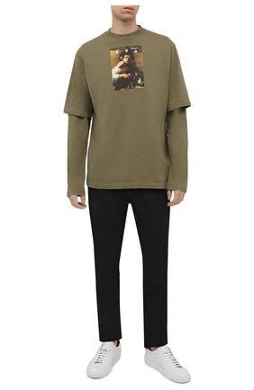 Мужские джинсы OFF-WHITE черного цвета, арт. 0MYA074F21DEN001 | Фото 2