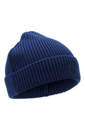 Мужская шерстяная шапка OFF-WHITE синего цвета, арт. 0MLC016F21KNI001   Фото 1 (Материал: Шерсть; Кросс-КТ: Трикотаж)