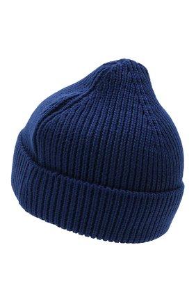 Мужская шерстяная шапка OFF-WHITE синего цвета, арт. 0MLC016F21KNI001   Фото 2 (Материал: Шерсть; Кросс-КТ: Трикотаж)