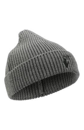 Мужская шерстяная шапка OFF-WHITE серого цвета, арт. 0MLC016F21KNI001   Фото 1 (Материал: Шерсть; Кросс-КТ: Трикотаж)