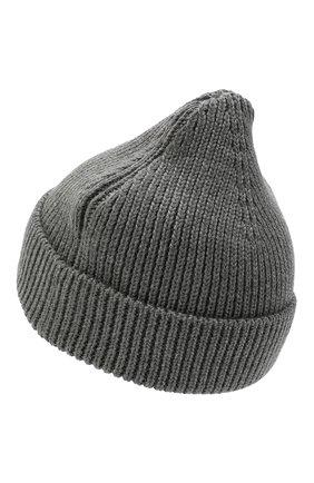 Мужская шерстяная шапка OFF-WHITE серого цвета, арт. 0MLC016F21KNI001   Фото 2 (Материал: Шерсть; Кросс-КТ: Трикотаж)