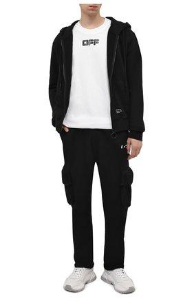 Мужские хлопковые брюки-карго OFF-WHITE черного цвета, арт. 0MCH036F21FLE001 | Фото 2 (Материал внешний: Хлопок; Длина (брюки, джинсы): Стандартные; Случай: Повседневный; Силуэт М (брюки): Карго; Мужское Кросс-КТ: Брюки-трикотаж; Стили: Спорт-шик)