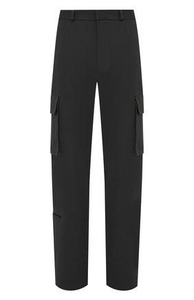 Мужские хлопковые брюки-карго OFF-WHITE темно-серого цвета, арт. 0MCF029F21FAB001 | Фото 1