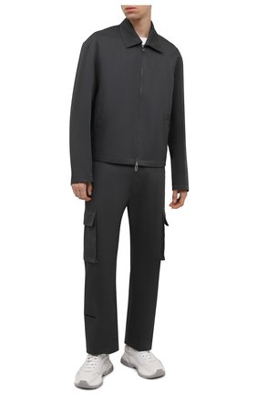 Мужские хлопковые брюки-карго OFF-WHITE темно-серого цвета, арт. 0MCF029F21FAB001 | Фото 2