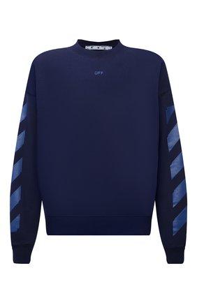 Мужской хлопковый свитшот OFF-WHITE синего цвета, арт. 0MBA054F21FLE007 | Фото 1