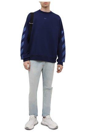 Мужской хлопковый свитшот OFF-WHITE синего цвета, арт. 0MBA054F21FLE007 | Фото 2