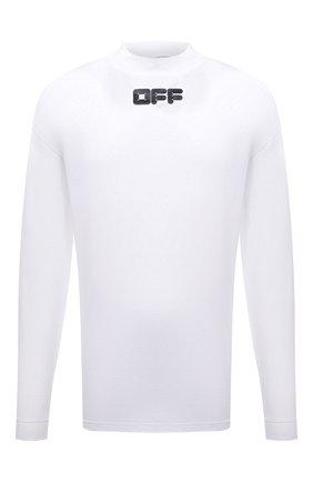 Мужская хлопковый лонгслив OFF-WHITE белого цвета, арт. 0MAB032F21JER002 | Фото 1